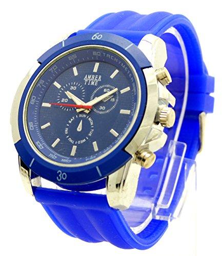 Designeruhr Pilotenuhr Armbanduhr Armbanduhr DG Trendit Blue Amber