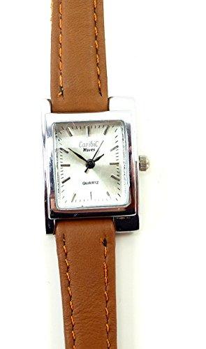 elegante Armbanduhr schlichte Dameuhr klassische Uhr mini Damen Uhr mit Lederarmband Ox5