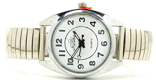 elegante und klassische Armbanduhr mit Flex Stahlarmband S SILBER