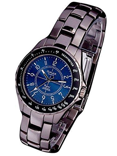 Elegante Markenuhr Klassische Herrenuhr Metallarmband Designer Uhr OMAX BLUE U81x