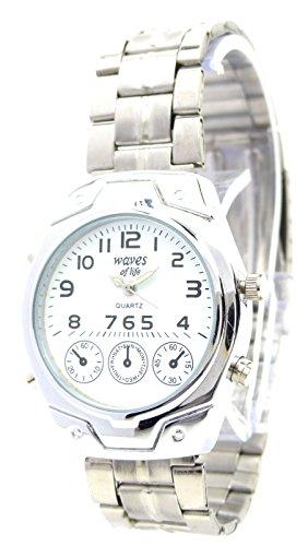 elegante schlichte und klassische Metall Armbanduhr fuer Sie und Ihn Ox18