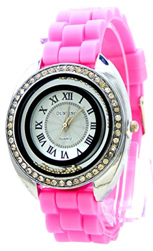 Glamour Lady Watch Strass mit Strass edle Armband Uhr hochwertige Lady Watch Dunking Rosa
