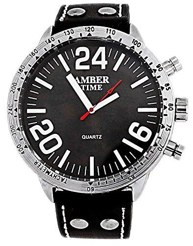 hochwertige Designer Armbanduhr U Boot Uhr Amber Black