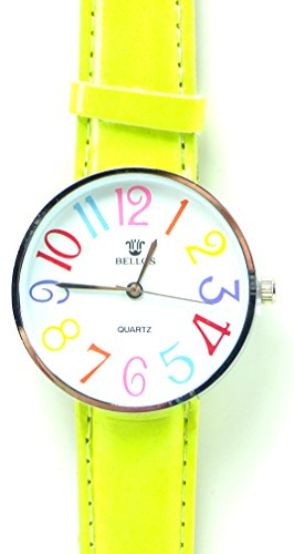 Tolle Marken Uhr mit knalligen Farben in schoenem Design LEMON GREEN UA5
