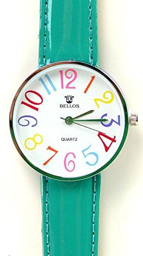 Tolle Marken Uhr mit knalligen Farben in schoenem Design GRUEN UA3