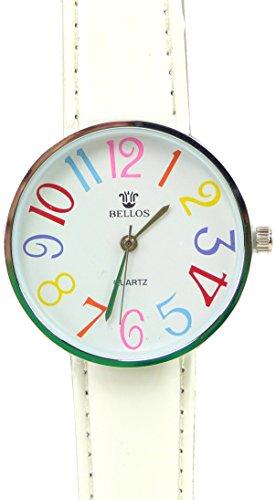 Tolle Marken Uhr mit knalligen Farben in schoenem Design WEISS UA6