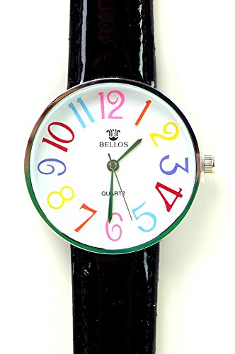 Tolle Marken Uhr mit knalligen Farben in schoenem Design SCHWARZ UA2