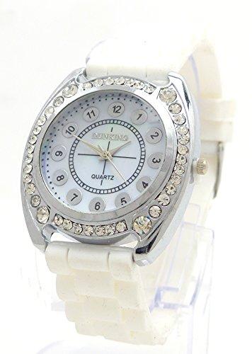 Strass Uhr Damenuhr Designer Armbanduhr Damen Uhr mit Strass Lady Watch DK WT