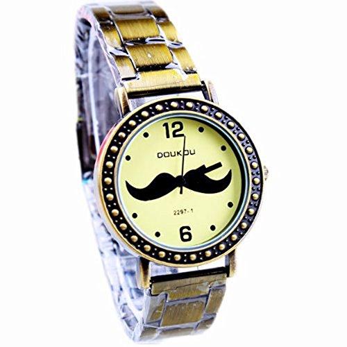 AplusWatch Mode Retro Bronze Stretch Armband Uhren zu Frauen girls beobachten neuesten