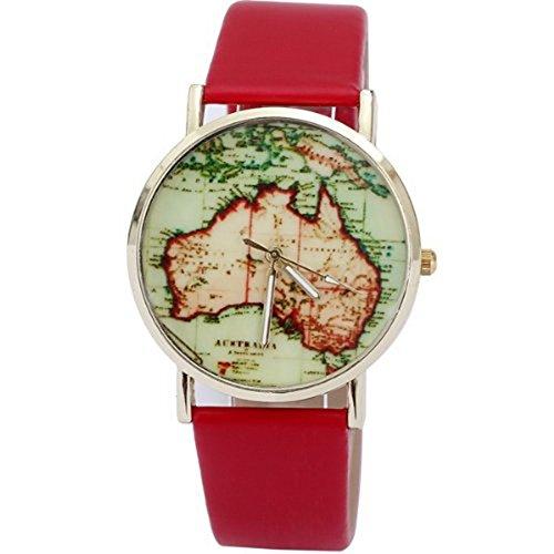 AplusWatch W1579 Armbanduhr Damen Armband Silikon Farbe Rot