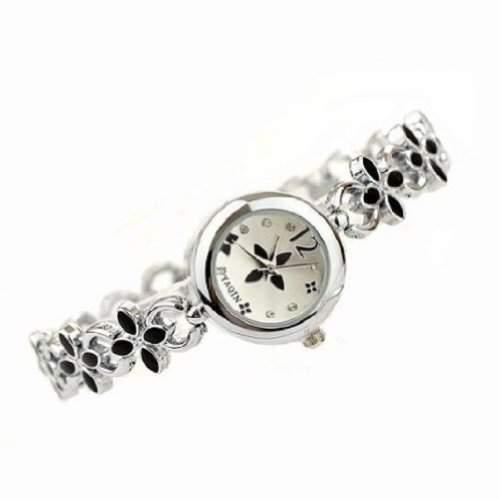 Frauen-Dame Beliebte Mode-Design-Blumen-Diamant-Armband-Uhr Zeit Quartz