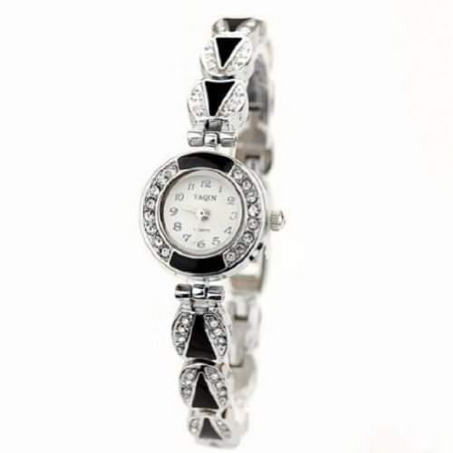 Mode Damen Quarzuhr Kleid Armbanduhren Alloy Strap runden Zifferblatt Uhren Big Numbers Zeit anzeigen