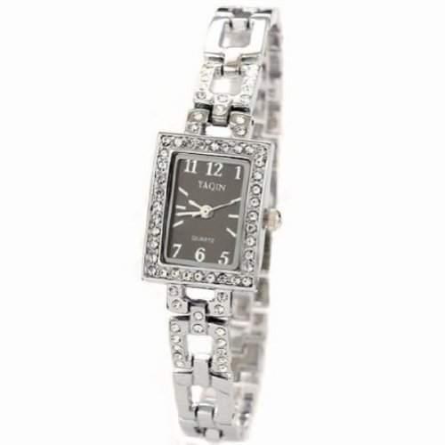 Mode-stilvollen Platz Kristall-Frauen-Uhr-Dame-Partei Kleid-Armband-Armband-Uhren