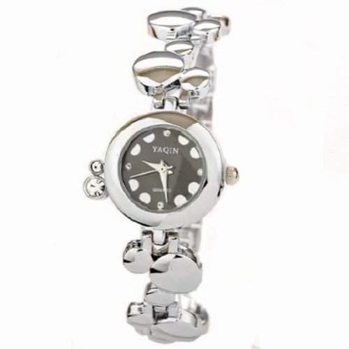 Mode neue Marken-Uhr Damen Luxus-Uhren Diamant Bling Armband-Quarz-Armbanduhr