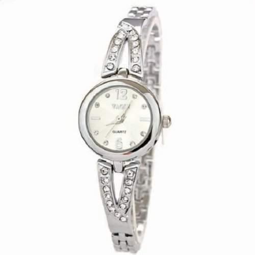 Kristall-Uhr-Mode-Frauen-Kleid-Damen Strass mit Diamanten Hour Marks