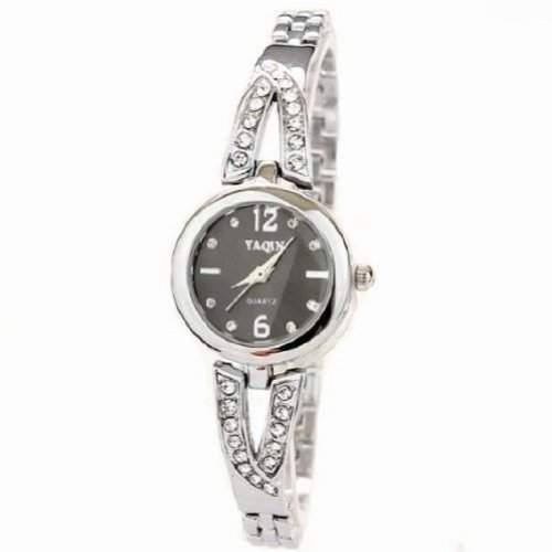 Neueste Kristall Uhr-Mode-Frauen-Kleid-Damen Strass mit Diamanten Hour Marks