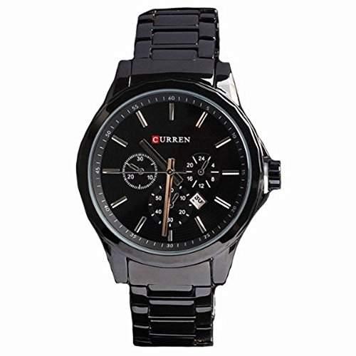 CURREN neueste Art und Weise Sport-Uhr-Edelstahl-Mann-Wei? Einstellbare Quartz Analog Armbanduhr