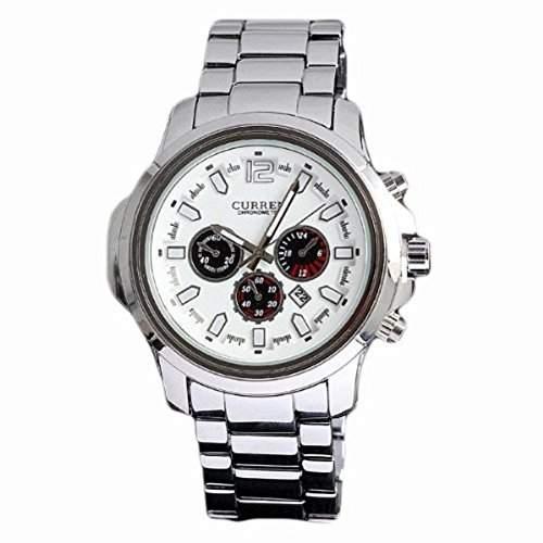 Herrenuhren Fashion Watch Marke largeVorwahlknopf-Quarz-analoge Uhr aus Edelstahl