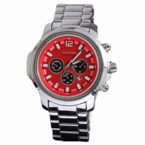 Neuer Mann-Uhren Mode-Uhr-Marken-large Vorwahlknopf-Quarz-analoge Uhr aus Edelstahl