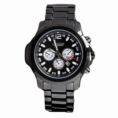 Fashion Uhren fuer Mann Marke large Vorwahlknopf-Quarz-analoge Uhr aus Edelstahl