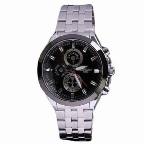 Fashion Watch Luxus Mann echte Quarz Schmuck Japan-Bewegung Edelstahllegierung Uhr