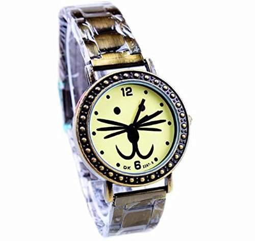 AplusWatch Retro Bronze Stretch-Armband Damenuhren neuesten