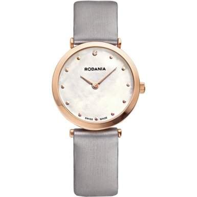 Rodania Swiss Damen-Armbanduhr Elios Silk Analog Quarz Leder RS2505732