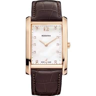 Rodania Swiss Damen-Armbanduhr Altra Analog Quarz Leder RS2507431