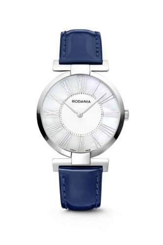 Rodania Swiss Damen-Armbanduhr Tyara Analog Leder Blau RS2507729