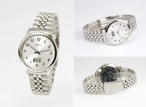 Elegante Herren Funkarmbanduhr mit Junghans-Uhrwerk, Gehaeuse & Armband aus Edelstahl 964471078