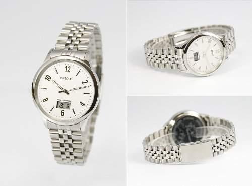 Elegante Herren Funkarmbanduhr mit Junghans-Uhrwerk, Gehaeuse & Armband aus Edelstahl 964471278