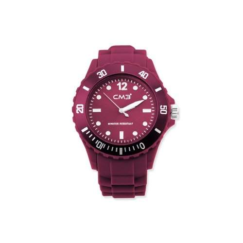 CM3 Silikon Herren Armbanduhr 43mm beere