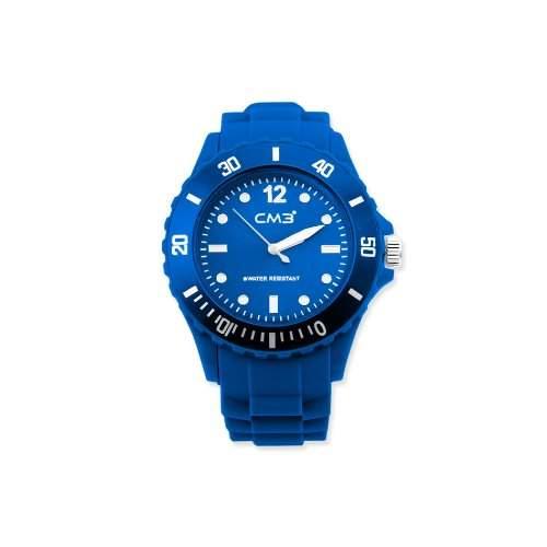 CM3 Silikon Damen Armbanduhr 38mm blau , inkl 2ter Ersatzbatterie