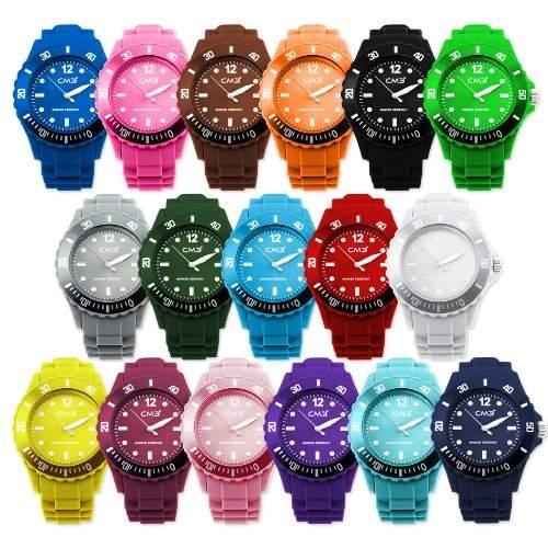 CM3 Silikon Kinder Armbanduhr 35mm dunkelblau , inkl 2ter Ersatzbatterie