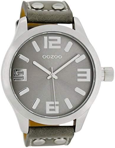 Oozoo Armbanduhr XL Grau C1057