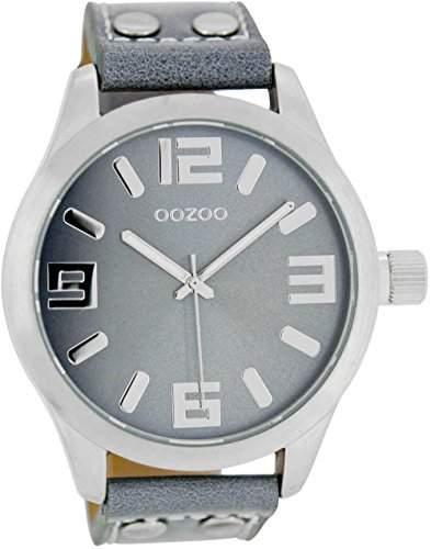 Oozoo Armbanduhr XL Blaugrau C1060