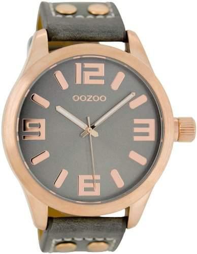 Oozoo XL Armbanduhr GrauRoségold C1153