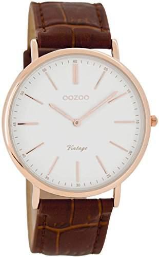 Oozoo Unisex-Armbanduhr Analog Quarz Leder C7335