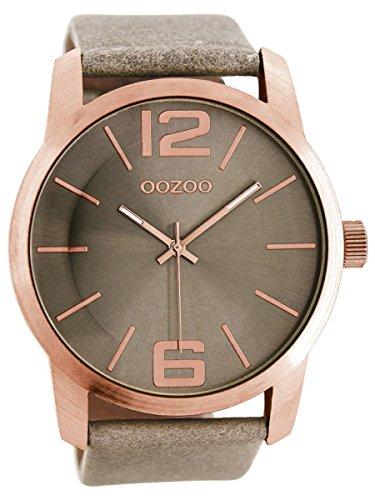 Oozoo XL Damen Armbanduhr Rose Taupe C8036
