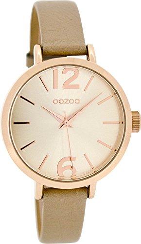 Oozoo mit Lederband 35 MM Rose Sand Sand C8405