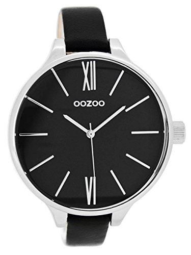Oozoo mit Lederband 45 MM Schwarz Schwarz C7969 2