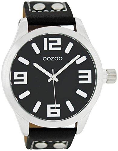 Oozoo mit Lederband C1054 schwarz 46 MM