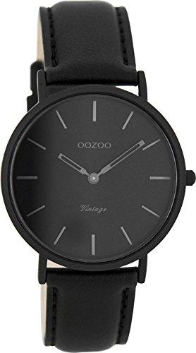 Oozoo Vintage Ultra Slim Leder 36 MM Schwarz Schwarz C7751