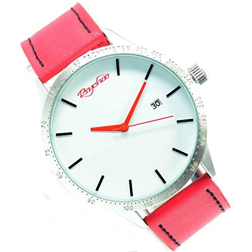 XXL Psychoo Rot Silber Datumsanzeige Elegant Sportlich Uhr