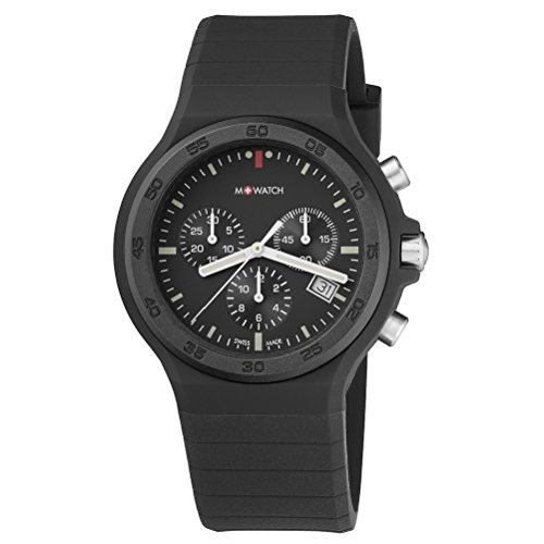 M WATCH Unisex Armbanduhr Maxi Black Chronograph Quarz WYO 15420 RB