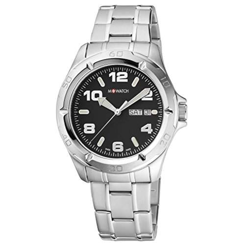 M-Watch Herren-Armbanduhr Analog Quarz Edelstahl MA6673061602