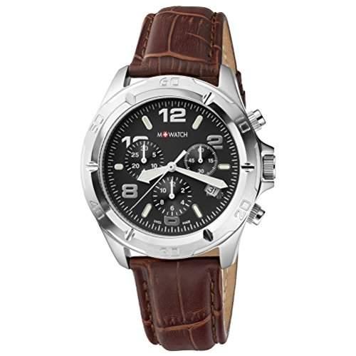 M-Watch Herren-Armbanduhr Analog Quarz Leder MA6893061601