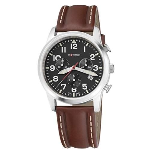 M-Watch Herren-Armbanduhr Analog Quarz Leder MA6893040801