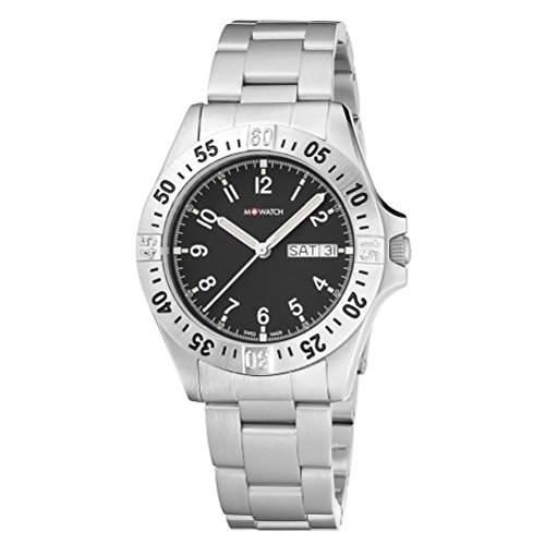 M-Watch Herren-Armbanduhr Analog Quarz Edelstahl MA6673043604EF