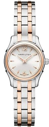 Hamilton Lady Jazzmaster WomenAnalog Quarz Edelstahl zweifarbig vergoldet Rotgold H32271155